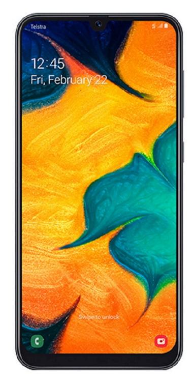 Samsung, Galaxy, A30, 6.4″, Screen, Black, (Outright/Unlocked),