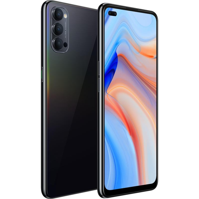 "OPPO, Reno4, 5G, 128GB, Space, Black, -, 6.4, Diagonal, Display, Snapdragonâ""¢, 765G, RAM, 8GB, Dual, Front, Lenses, Fast, Charge, su,"