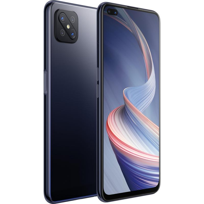 OPPO, Reno4, Z, 5G, 128GB, Ink, Black-, 6.5, Diagonal, Display, MTK, MT6873, Processor, RAM, 8GB, Dual, Front, Lenses, 18W, Fast, Char,