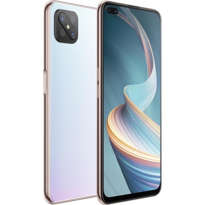 OPPO, Reno4, Z, 5G, 128GB, Dew, White-, 6.5, Diagonal, Display, MTK, MT6873, Processor, RAM, 8GB, Dual, Front, Lenses, 18W, Fast, Char,