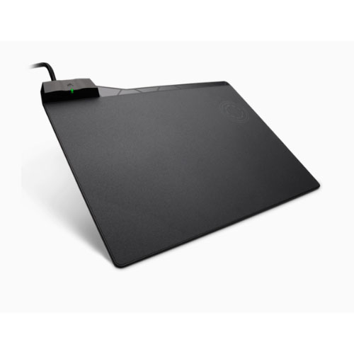 Corsair, MM1000, Qi, Wireless, Charging, Mouse, Pad, USB, 3.0, Pass-Through, LED, Charging, Indicator, Micro-Textured, Hard, Surface,