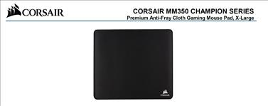 Corsair, MM350, Champion, Series, X-Large, Anti-Fray, Cloth, Gaming, Mouse, Pad., 450x400mm, 2, Years, Warranty,