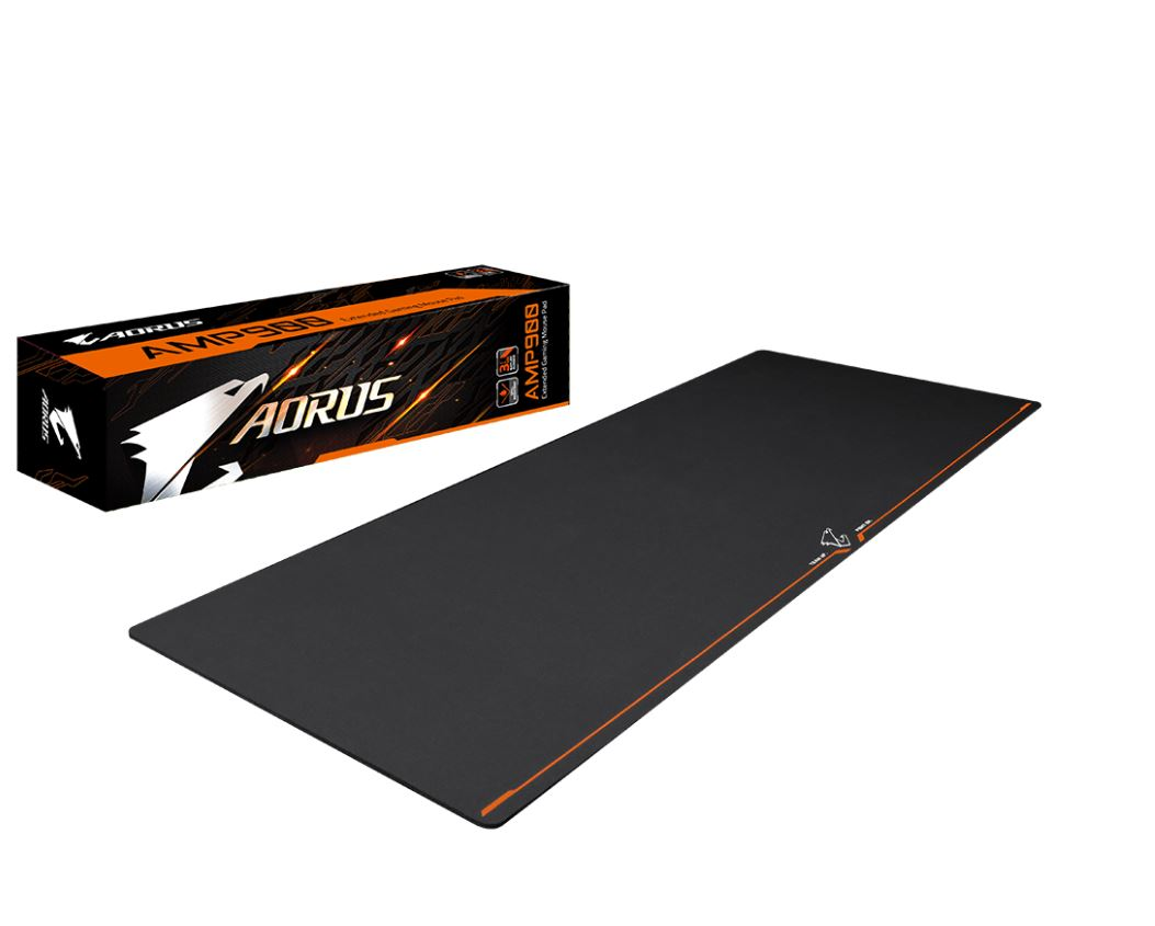 Gigabyte, AORUS, AMP900, Extended, Gaming, Mouse, Pad, Micro, Pattern, Desk-sized, Spill, resistant, High-density, Rubber, Base, 900*36,