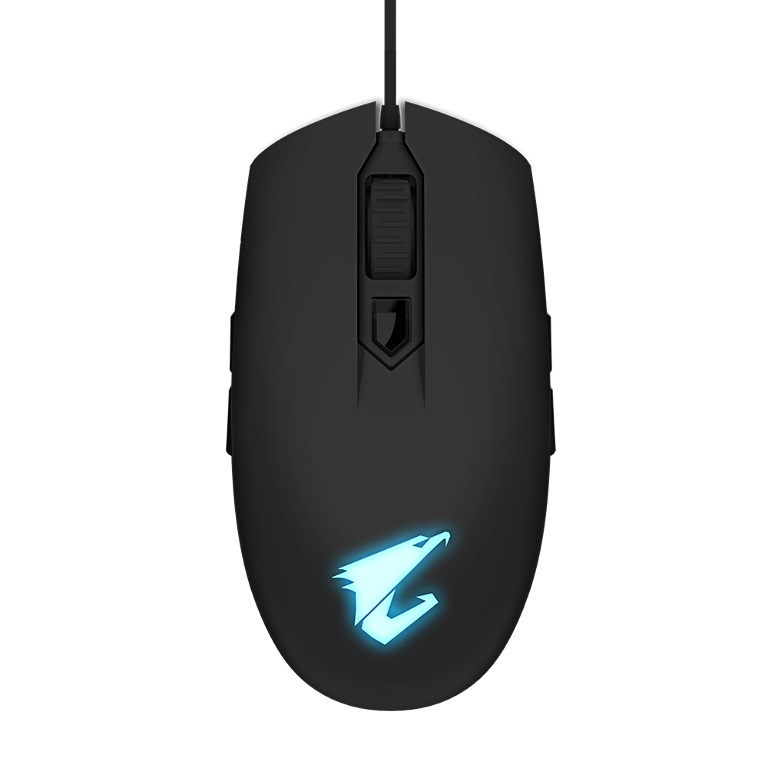 Gigabyte, AORUS, M2, Optical, Gaming, Mouse, USB, Wired, 6200, dpi, 12500, fps, 50g, 3D, Scroll, 50, million, click, Matte, Black, RGB, Fusio,