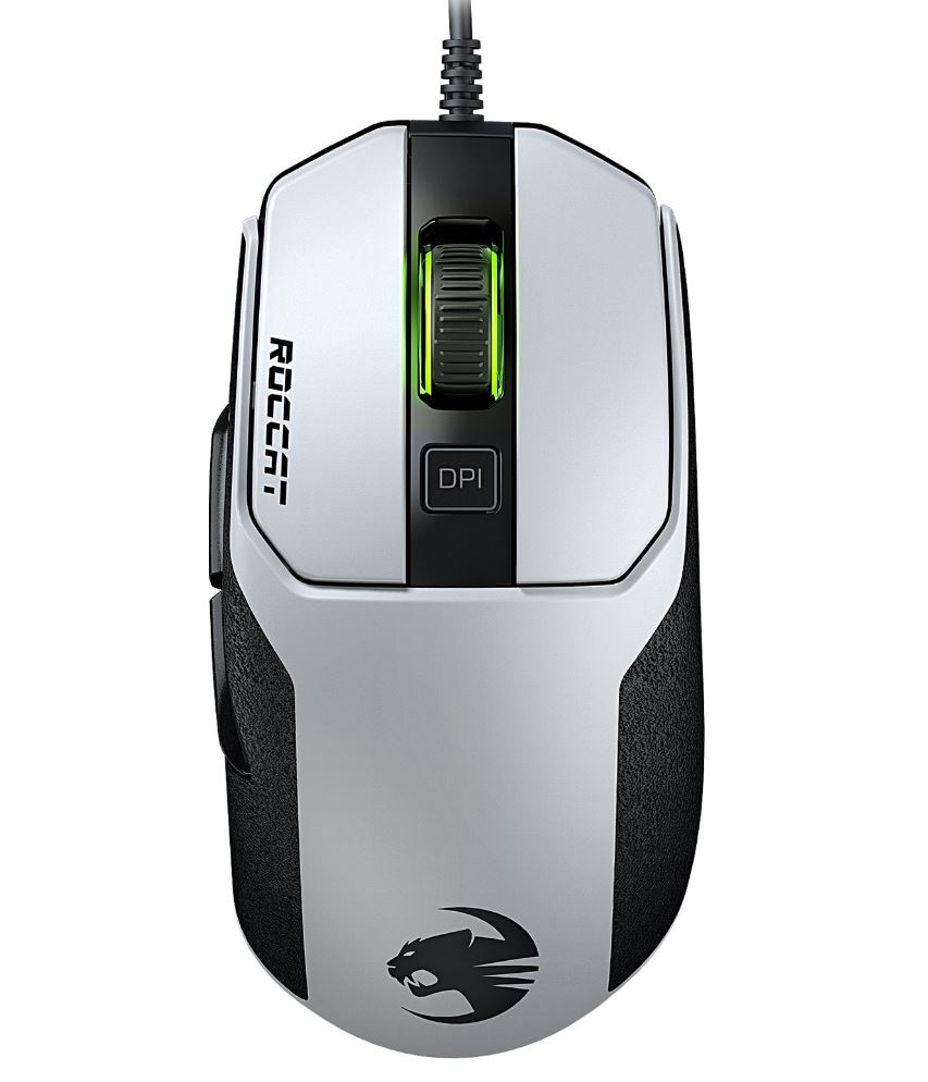 Roccat, KAIN, 102, AIMO, RGBA, High, Performance, Gaming, Mouse, (White, Version),