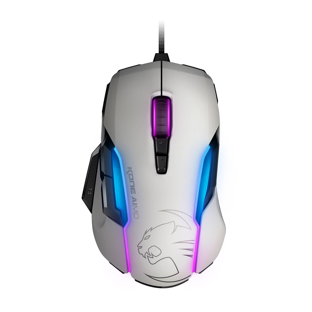 Roccat, KONE, AIMO, RGBA, Smart, Customization, Gaming, Mouse, (White, Version), MOD:, ROC-11-810-AS,
