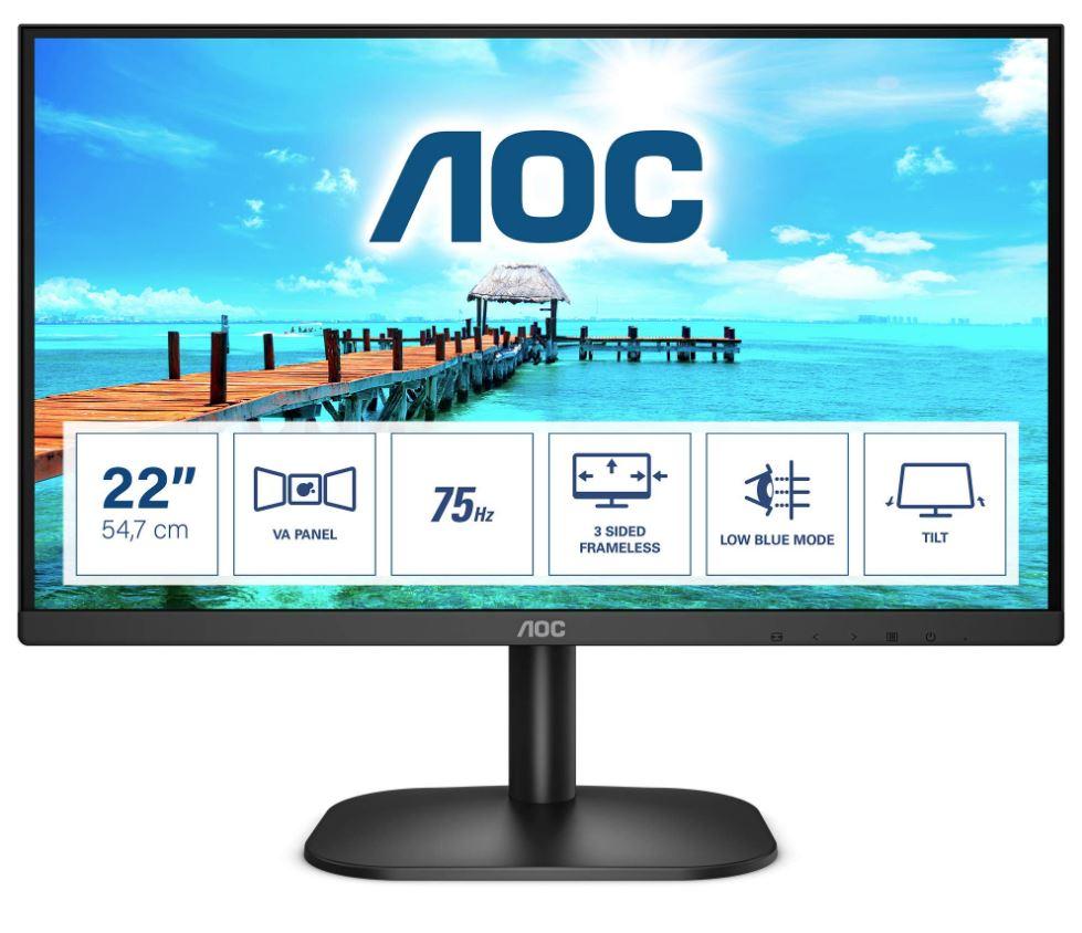 Aoc, 22B2HN/75, FHD, VGA/HDMI, W-LED,