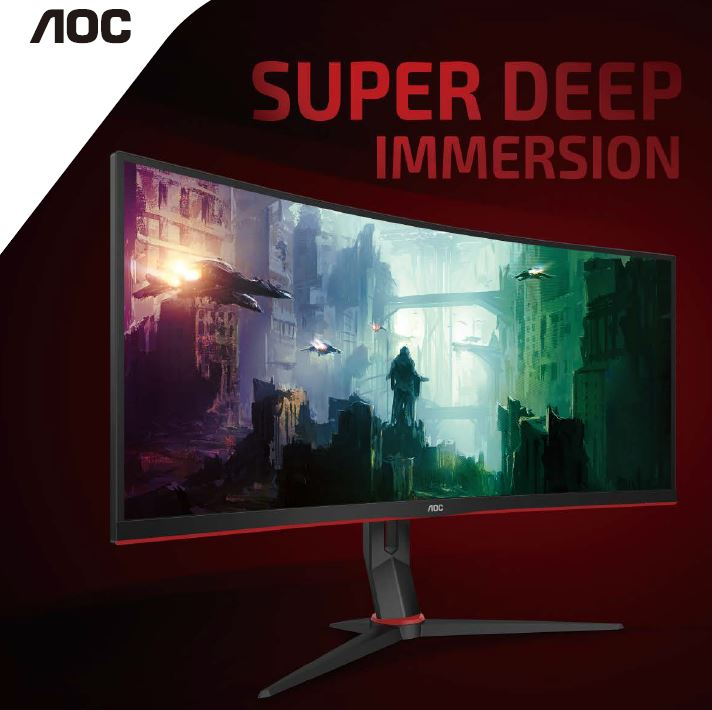 Aoc, CU34G2X/75, WQHD, 144HZ, GAMING, MONITOR,
