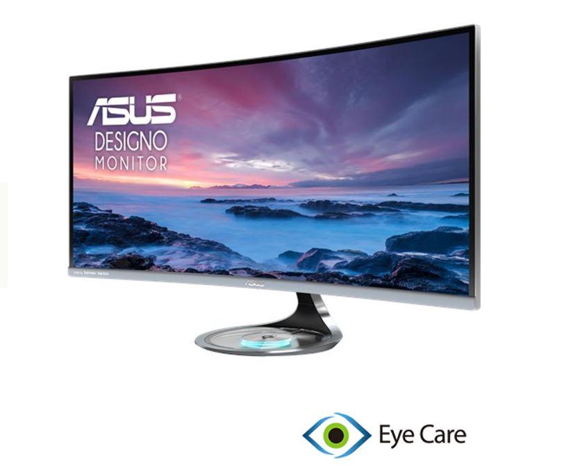 ASUS, MX34VQ, 34, Inch, Ultra-wide, QHD, Designo, Curved, Monitor,