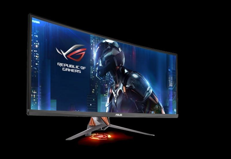 "ASUS, PG348Q, 34, Ultra-wide, Gaming, Monitor, QHD, 3440x1440, overclockable, 100Hz, G-SYNCâ""¢,"