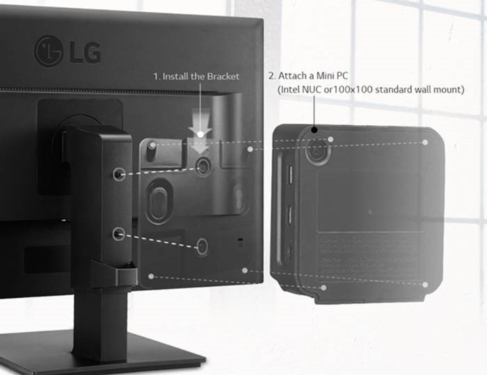 LG, INTEL, NUC, MOUNTING, KIT, FOR, MB37, MB65, MB67, BK550, SERIES, MONITORS,