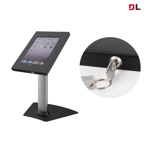 Brateck, Anti-Theft, Secure, Enclosure, Countertop, Stand, for, iPad-, Black, with, Adjustable, Height, Functio, For, 9.7, iPad/iPad, A,