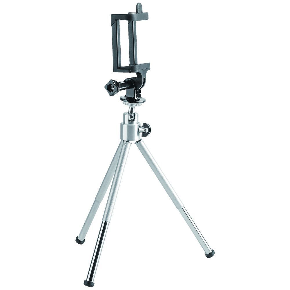 Brateck, Mini, Tripod, for, Digital, Camera, and, Phones, with, GoPro, Adapter, and, Smartphone, Holder(LS),