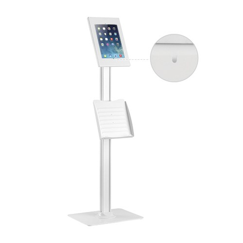 Brateck, Anti-theft, Tablet, Kiosk, Floor, Stand, with, Catalogue, holder, 9.7, /10.2, Ipad, 10.5, Ipad, Air/Ipad, Pro, 10.1, Sansun,