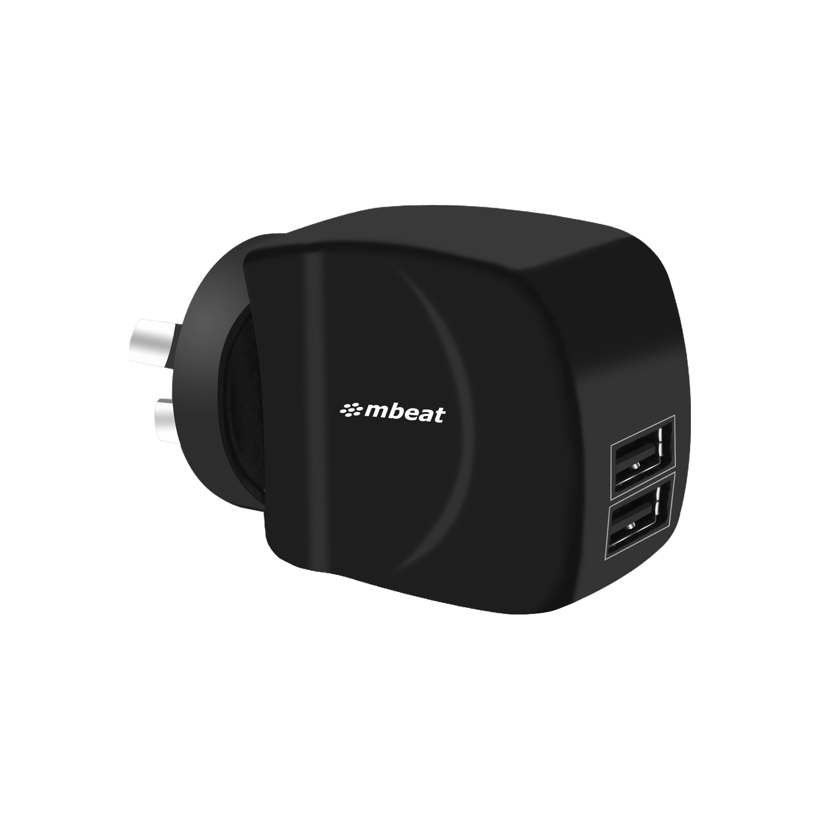 mbeat®, Gorilla, Power, Duo, 3.4A, Dual, USB, Ports, Smart, Charger, -, Charge, 2, Smartphones, or, Tablets, Simultaneously,