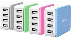 ORICO, 4, x, USB, Port, -, Desktop, Charger, -, Pink,