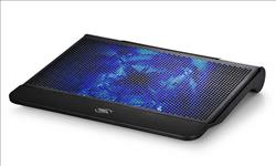 Deepcool, N6000, Notebook, Cooler, Black, (Up, to, 17, ), Blue, LED, 200mm, Fan, Storage, Cage, 2x, USB,