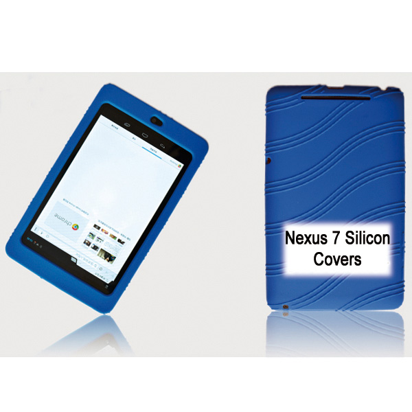 Tablet, 7, Silicon, Back, Blue, Back, Case, for, Nexus, 7, /, 7, Tab,