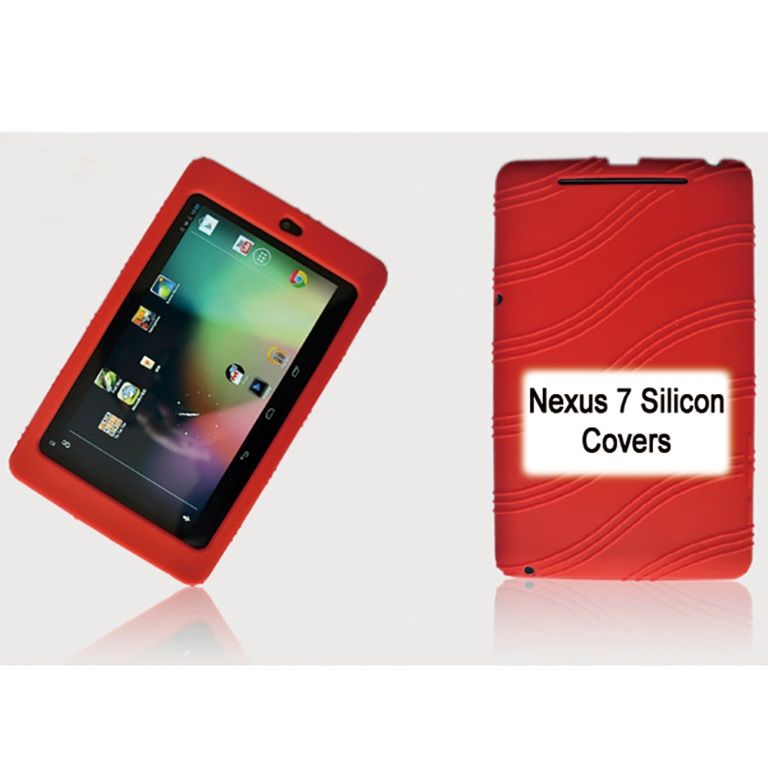 Tablet, 7, Silicon, Back, Red, Back, Case, for, Nexus, 7, /, 7, Tab,