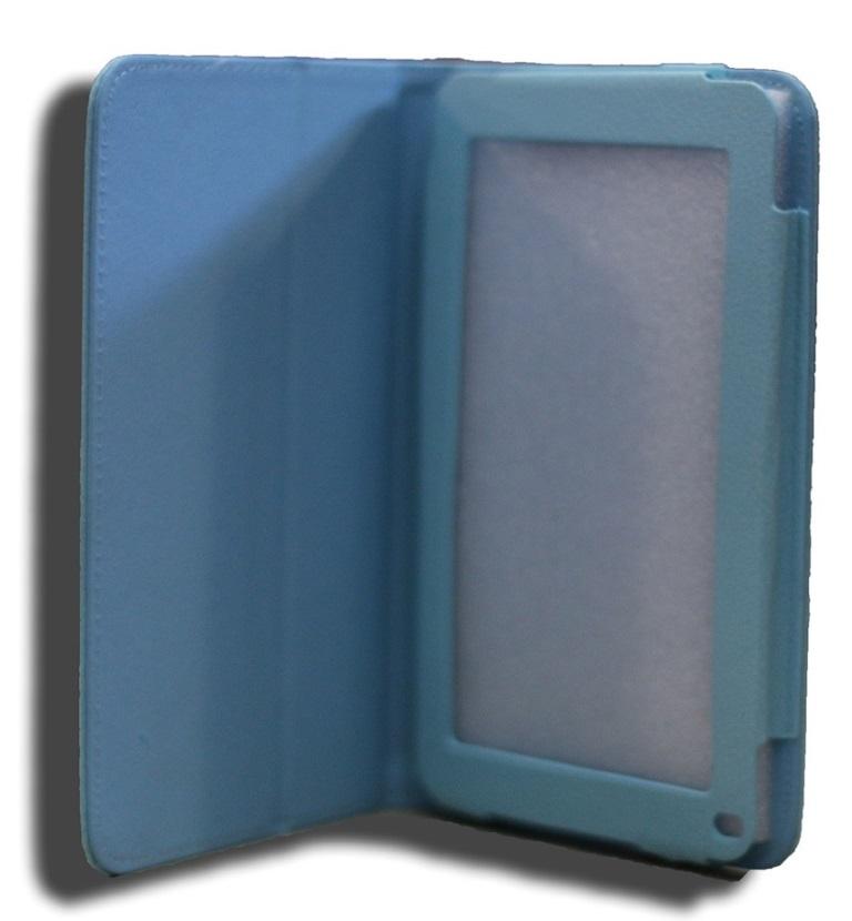 LeaderTab7, Folio, Case, Blue, Faux, Leather., Camera, hole, rear,