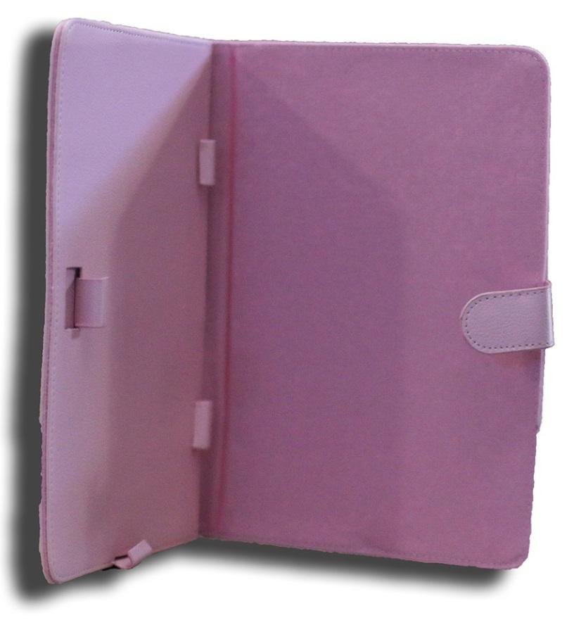 LeaderTab7, Folio, Case, Pink, Faux, Leather., Camera, hole, rear,