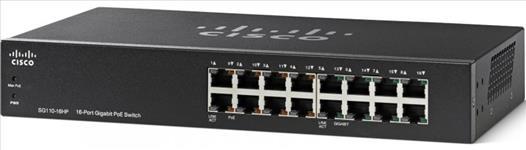 Cisco, SG110-16, 16-PORT, POE, GIGABIT, SWITCH, (8,
