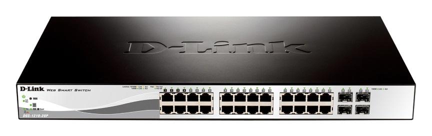 D-link, 24-Port, 10/100/1000Mbps, +, 4-Port, SFP, PoE,