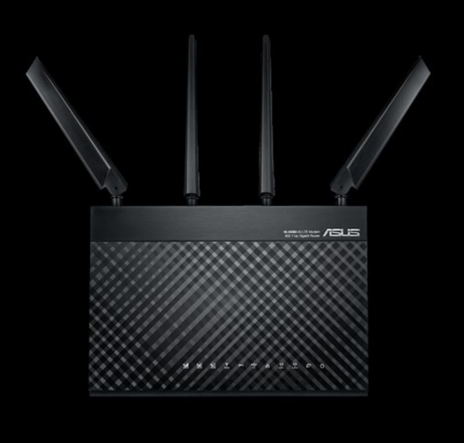 ASUS, 4G-AC68U, Wireless, LTE, Modem, Router, AC1900, 3G/4Gsupport, 4G, LTE, and, Gigabit, Ethernet, dual-WAN, MU-MIMO, Smart, QoS,