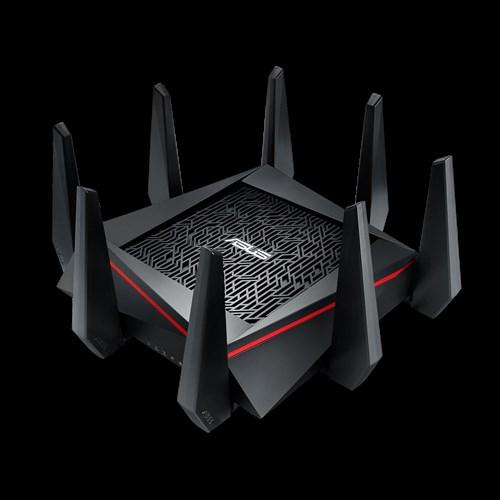 ASUS, RT-AC5300, MU-MIMO, Gigabit, Wireless, Gaming, Router, Tri-Band, &, Quad-Stream, AC5300, 4, x, Gigabit, LAN, Ports, 2, x, USB, 8,