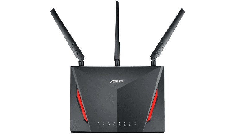 ASUS, RT-AC86U, AC2900, Dual, Band, Gigabit, WiFi, Gaming, Router, with, MU-MIMO, AiMesh, AiProtection, WTFast, Adaptive, QoS,
