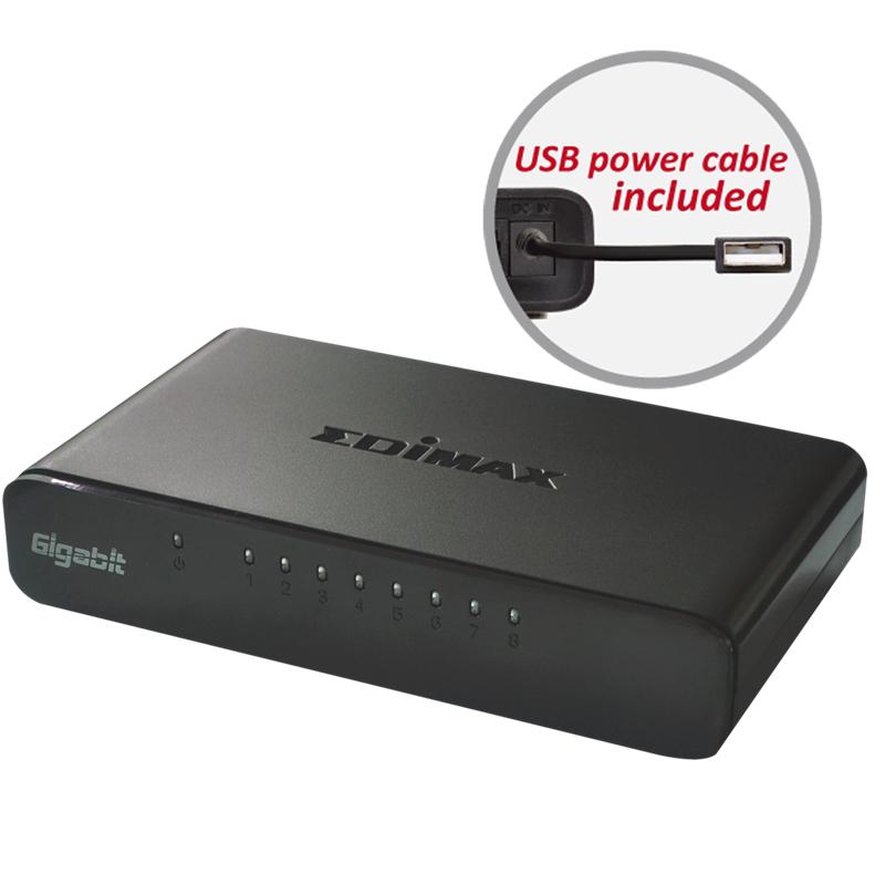 Edimax, ES-5800G, V3, 8-Port, Gigabit, Switch,