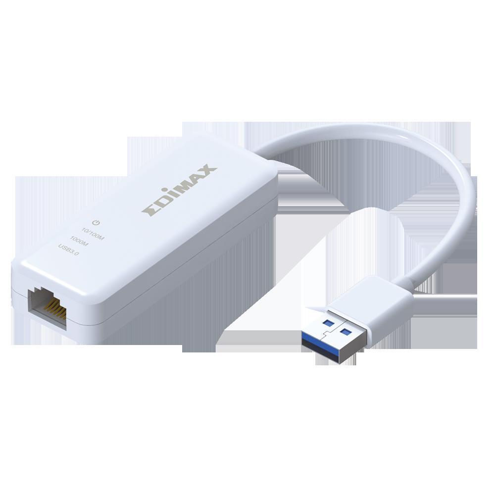Edimax, EU-4306, USB, 3.0, Gigabit, Ethernet, Adapter,