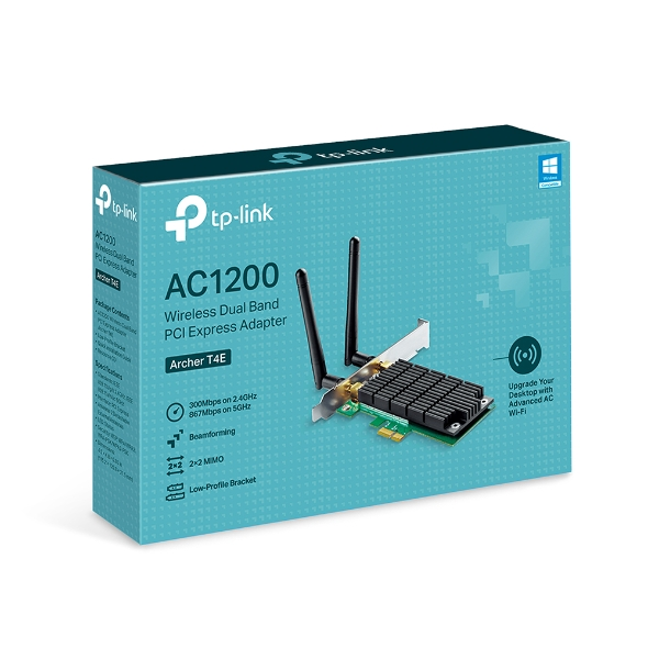 TP-Link, Archer, T4E, AC1200, Wireless, Dual, Band, PCI, Express, Adapter,