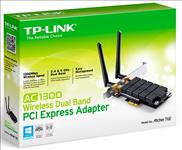TP-Link, Archer, T6E, AC1300, Wireless, Dual, Band, PCI, Express, Adapter, 1300Mbps, 5GHz, (867Mbps), 2.4GHz, (400Mbps), 802.11ac, 2x, E,