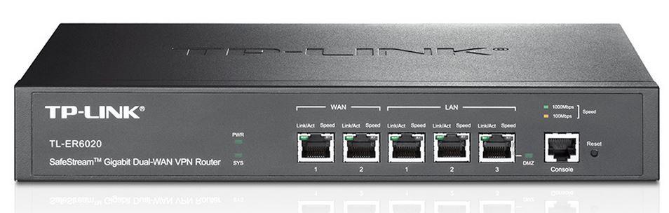 TP-LINK, TL-ER6020, VPN, ROUTER, ;, FIREWALLCABLE/DSL, 10/100/1000, (2, LAN, &2, WAN), 50, X, VPN, 5YR,