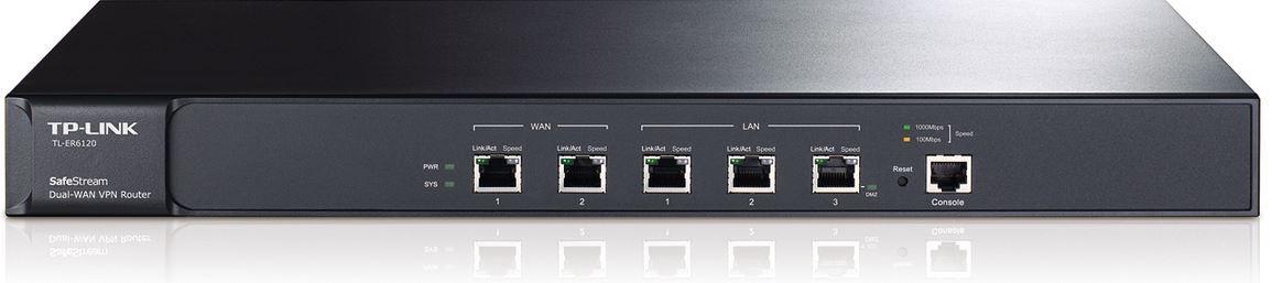 TP-LINK, VPN, ROUTER, ;, FIREWALLCABLE/DSL, 10/100/1000, (2, LAN, &2, WAN), 100, X, VPN, 5YR,