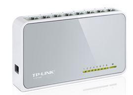 TP-LINK, 8, PORT, UNMANAGED, DESKTOP, SWITCH, 10/100, (8), WHITE, 3, YR, WTY,