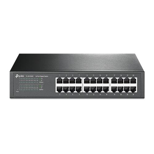 TP-Link, TL-SG1024D, 24-Port, Gigabit, Desktop/Rackmount, Unmanaged, Switch, energy-efficient, Supports, MAC, Plug, &, play, 48Gbps, S,