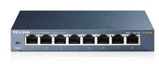 TP-Link, TL-SG108, 8-Port, Gigabit, Desktop, Switch, Steel, Case, Fanless, 11.9Mpps, Support, 802.1p/DSCP, QoS1, and, IGMP, Snooping, Pl,