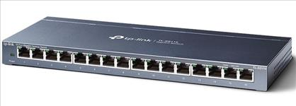 TP-Link, TL-SG116, 16-Port, Gigabit, Unmanaged, Desktop/Wall, Mounting, Switch, 32Gbps, Capacity, 23.81Mpps, 8K, MAC, 4.1Mb, Buffer, Fa,