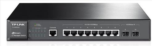 TP-Link, T2500G-10TS, (TL-SG3210), JetStream, 8-Port, Gigabit, L2, Managed, Switch, with, 2, SFP, Slots,