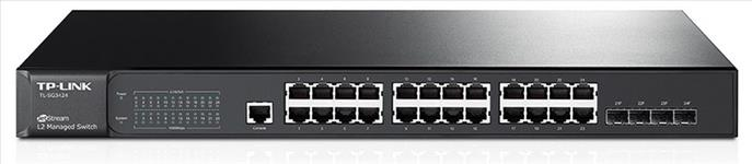 TP-Link, T2600G-28TS, (TL-SG3424), JetStream, 24-Port, Gigabit, L2, Managed, Switch, with, 4, SFP, Slots,