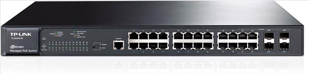 TP-Link, T2600G-28MPS, (TL-SG3424P), JetStream, 24-Port, Gigabit, L2+, Managed, PoE+, Switch, with, 4, Combo, SFP, Slots, 384W, 56Gbps, S,