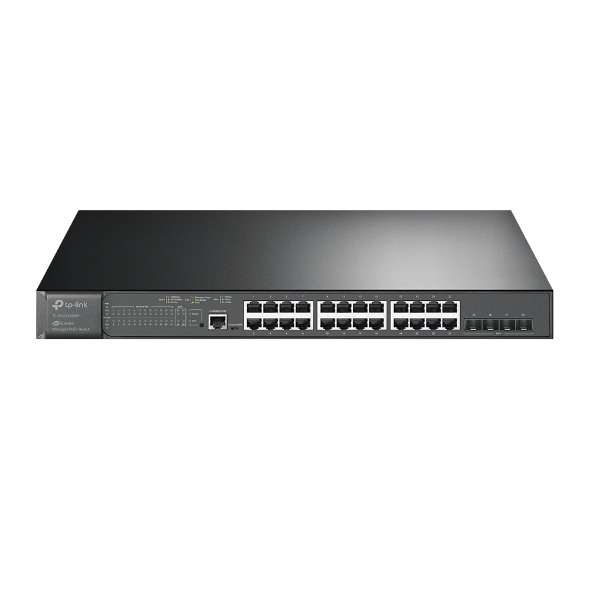 TP-Link, TL-SG3428XMP, JetStream, 24-Port, Gigabit, and, 4-Port, 10GE, SFP+, L2+, Managed, Switch, with, 24-Port, PoE+,