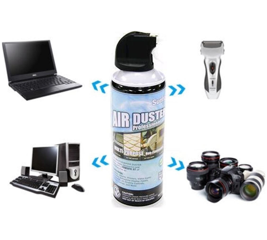 8Ware, Air, Duster, Compressed, Can, Spray, 400ml, for, Cleaning, Motherboards, Video, Cards, PCs, Laptops, Keyboards, Cameara, Lens, Mob,