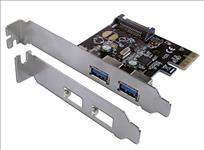 C/Land, 2, Port, PCIE, USB3, Card, 2, X, EXTERNAL, PORTS, LP, Bracket,