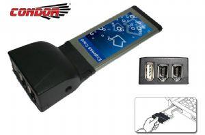 Condor, USB, &, IEEE1394, Exp, Card, 1, x, USB, 2, x, IEEE1394a,