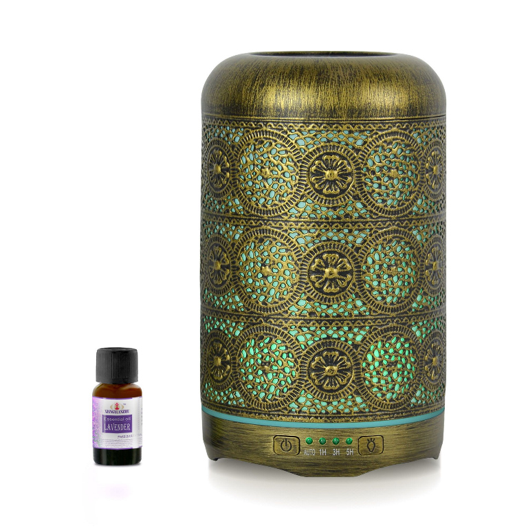 mbeat®, activiva, Metal, Essential, Oil, and, Aroma, Diffuser-Vintage, Gold, -260ml,