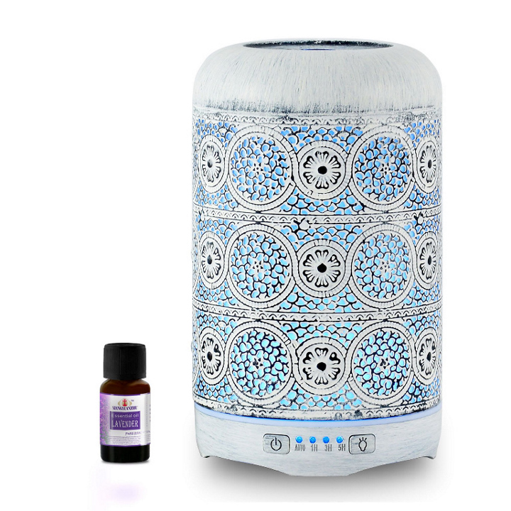 mbeat®, activiva, Metal, Essential, Oil, and, Aroma, Diffuser-Vintage, White, -260ml,