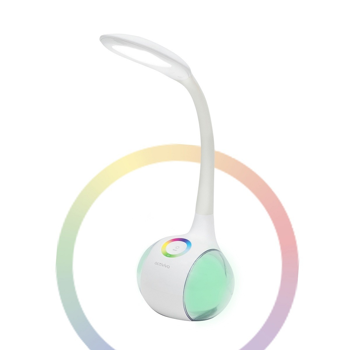mbeat®, actiVIVA, LED, Desk, Lamp, with, RGB, Color, Changing, Base, -, Adjustable, RGB, Light, setting/, Daylight, Nightlight, Function,